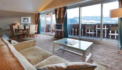 Wohnraum in der Allgäu Sonne Suite