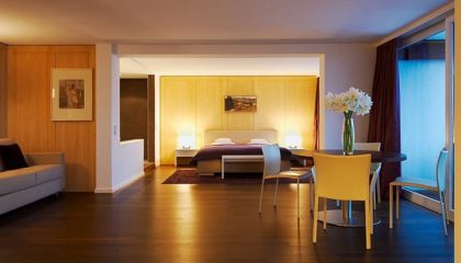 Bett in der Allgäu Sonne Suite Südseite
