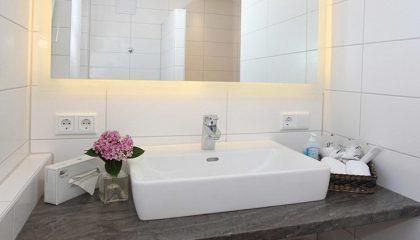 Waschbecken in der Spa Suite