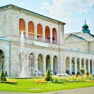 Historisches Kurgebäude im Kurpark von Bad Kissingen