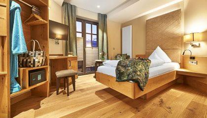 Schlafbereich im Einzelzimmer Betula