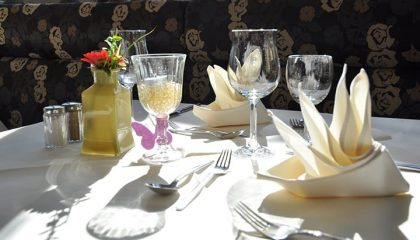 Fein gedeckter Tisch