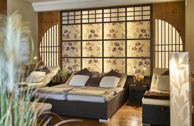 Bett in der Ruhezone