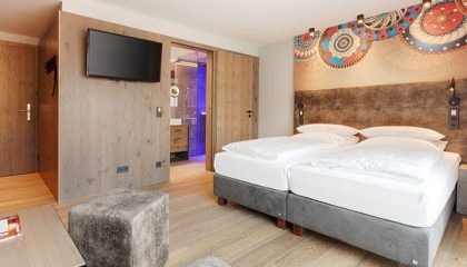 Bett im Doppelzimmer Hof Schick
