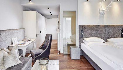 Bett in einem Luxus-Loft