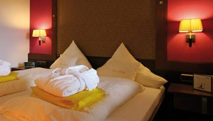 Bett im Panorama Suite