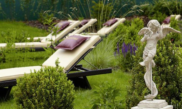 Liefe im grünen Wellnessgarten