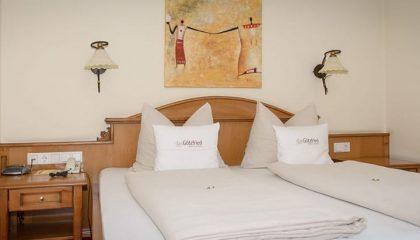 Bett in der Landhaus Suite