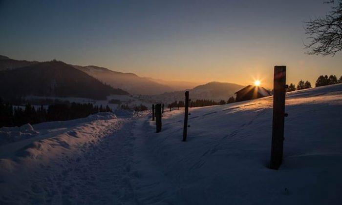 Wanderpfad im Winter