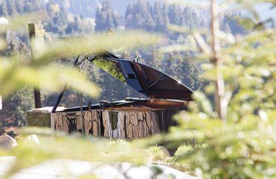 Ein Flügel am Berg