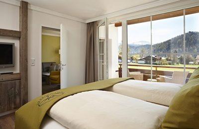 Bett im Zimmer Kuhhimmel