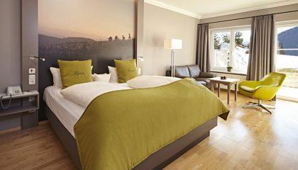 Bett im Zimmer Meerau