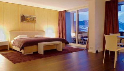 Bett in der Allgäu Sonne Suite