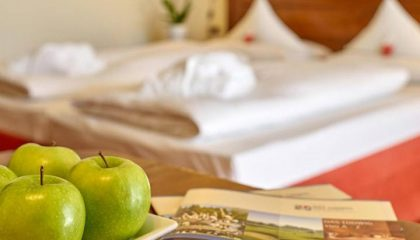 Frische Äpfel auf dem Zimmer in der Nahaufnahme