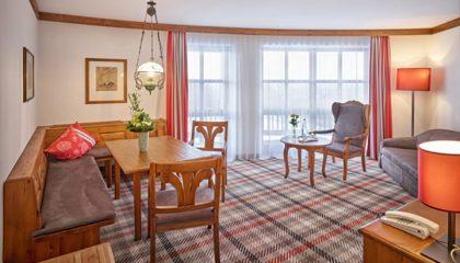 Wohnraum in der Suite