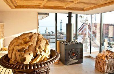 Sauna mit Glaswänden