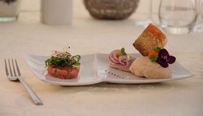 Frisches Fischgericht im Hotel Helvetia