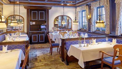 Blau farbiges Restaurant