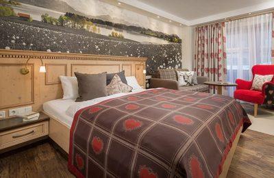 Bett im Doppelzimmer Landhaus