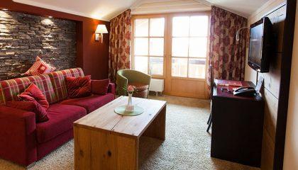 Wohnraum in einer Suite