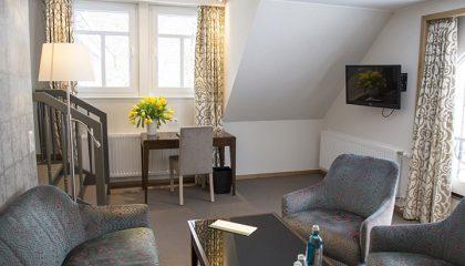 Wohnraum im Appartement Classic
