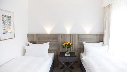 Zwei Betten in der Suite Comfort