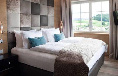 Bett im Doppelzimmer Panorama