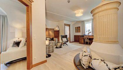 Wohnbereich in der Schlössel Suite