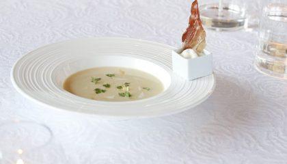 Elegant präsentierte Speise