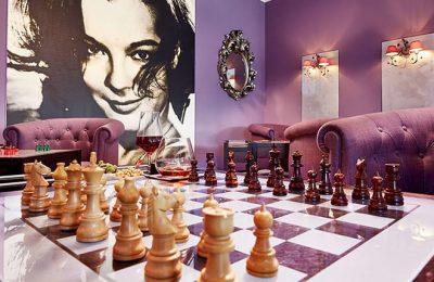 Schachspiel in der Lilien Lounge