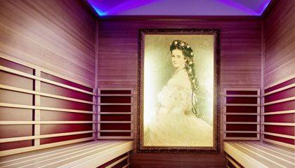 Sauna mit Gemälde