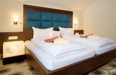 Bett in der Suite Luft