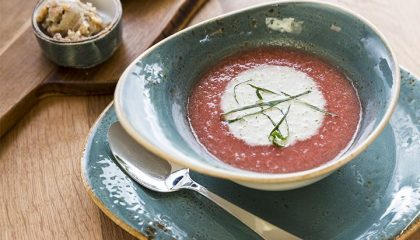 Frische Suppe in der Nahaufnahme