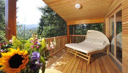Balkon vom Baumhaus
