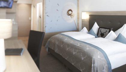 Bett im Doppelzimmer Classic