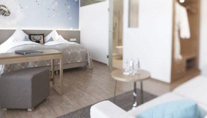 Wohnraum im Doppelzimmer Superior