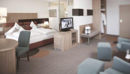 Wohnraum in der Junior Suite