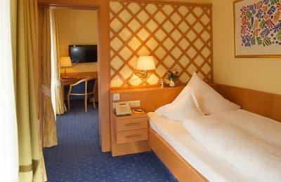 Bett im Einzelzimmer Appartement