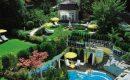 Überblick über den Garten und Pool