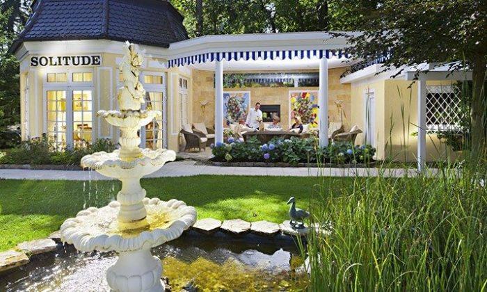 Solitude im Garten mit Brunnen