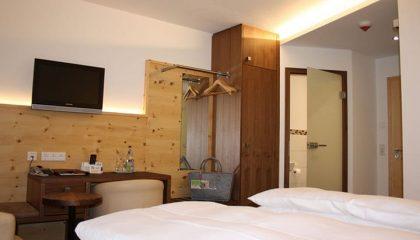 Bett im Doppelzimmer Phalbuck