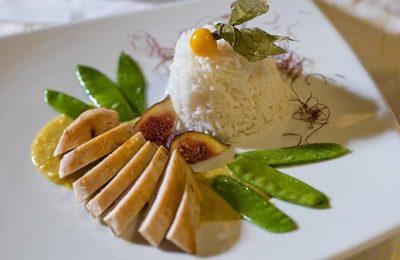 Reisgericht im Hotel