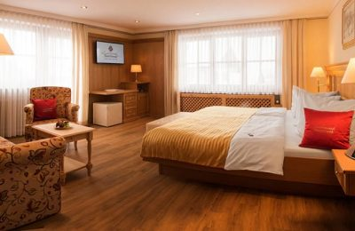 Bett im Doppelzimmer 117