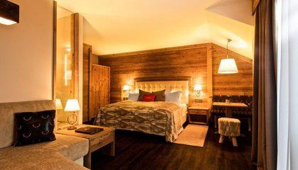 Schlafbereich im Doppelzimmer Hirschenstein