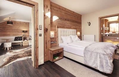Wohn- und Schlafbereich im Jagdzimmer
