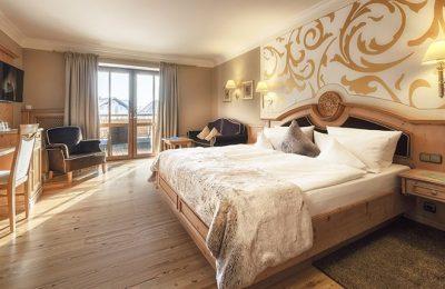 Bett im Doppelzimmer Landgold