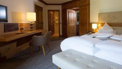 Bett in der Hochgrat Suite
