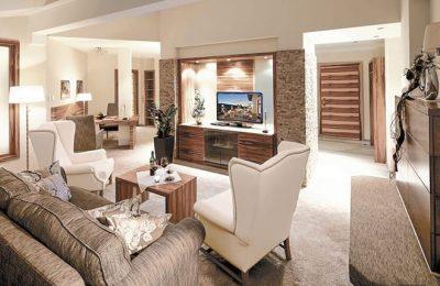 Wohnraum in den Luxus Suiten