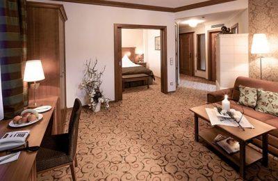 Wohnraum in der Suite Turmsuite
