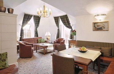 Wohnraum in der Luxus Suite Turmblick